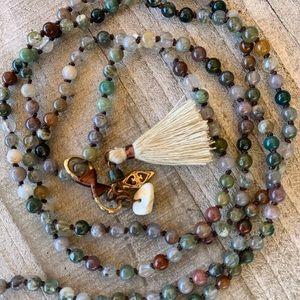 Long Boho Healing Stone Necklace